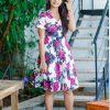 HOT Floral Flared Dress (PI0151)